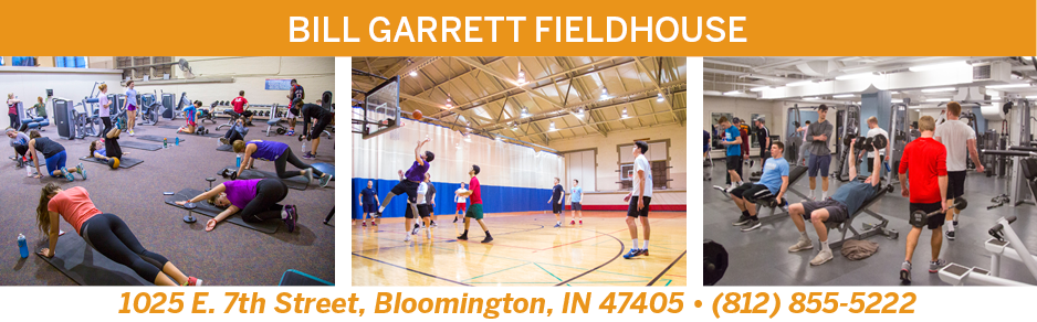 Intramural Center, 1025 E 7th St, Bloomington, IN 47405 (812)855-5222